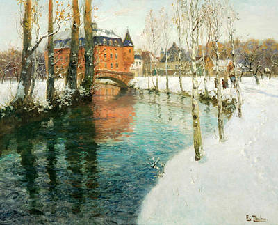 Painting - A Chateau In Normandy by Frits Thaulow