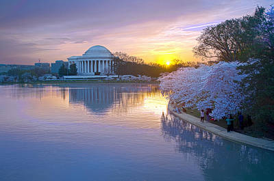 Photograph - A Cherry Blossom Sunrise Dance by Steven Barrows