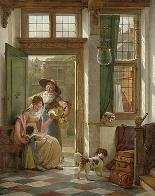 A Cherry Vendor At The Door, Abraham Van Strij Art Print