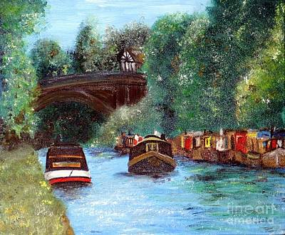 Painting - A Cheshire Canal Remembered by Yoursbyshores Isabella Shores