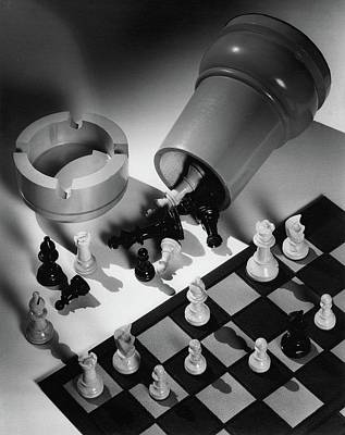 Photograph - A Chess Set by Maurice Seymour