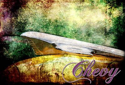 Digital Art - A Chevy by Greg Sharpe