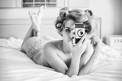 Cameras Wall Art - Photograph - A Chick, A Click, And A Curl by Keane-eye