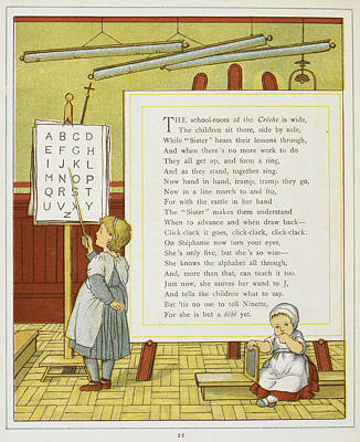 A Child Learning The Alphabet Art Print by British Library