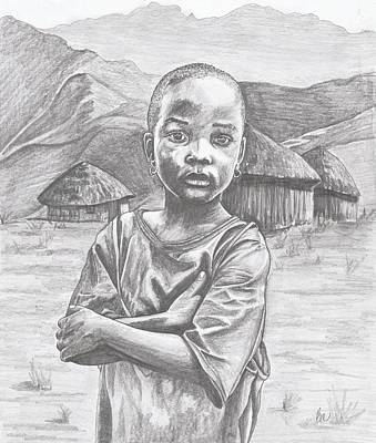A Child Of Africa Art Print
