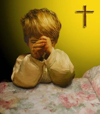 Digital Art - A Childs Prayer by Michael Malicoat