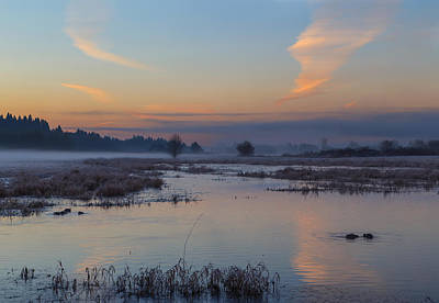 Photograph - A Chilly Sunrise by Angie Vogel
