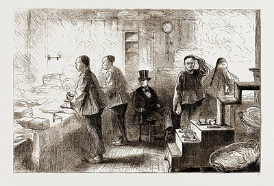 Philadelphia Drawing - A Chinese Laundry In Philadelphia, 1876 by Litz Collection