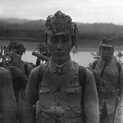 Photograph - A Chinese Soldier At A Demonstration At Pihu by Cecil Beaton