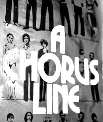 A Chorus Line Vintage Bw Art Print by Toni Ryder