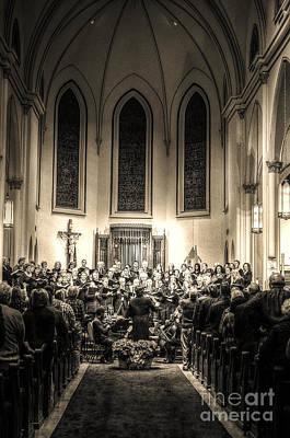 A Christmas Choir Art Print