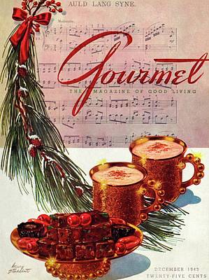 1943 Photograph - A Christmas Gourmet Cover by Henry Stahlhut