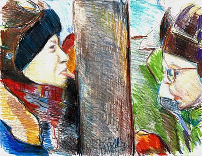 A Christmas Story  Art Print by Jon Baldwin  Art