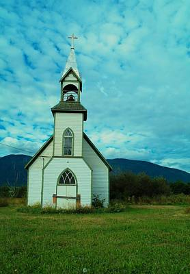A Church In British Columbia   Art Print