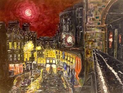 Painting - A City In Scarlet by Joel Tesch
