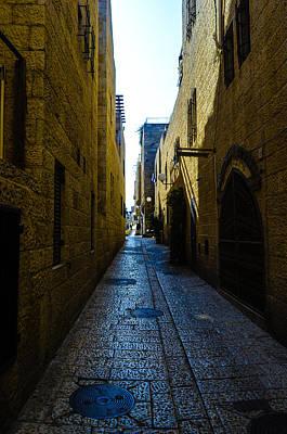 Photograph - A City Street In Jerusalem by Alan Marlowe