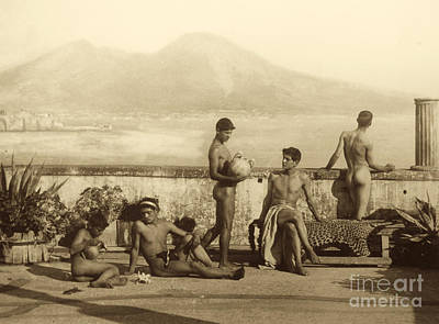 Nudes Photograph - A Classical Scene In Tierra Del Fuego South America by Wilhelm von Gloeden