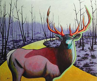 A Close Encounter In Yellowstone Art Print by Joe  Triano