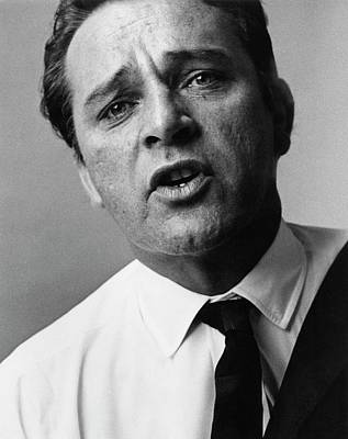 Photograph - A Close-up Of Richard Burton by Bert Stern