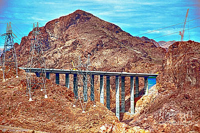 Digital Art - A Closer Look At Pat Tillman Bridge by Bob and Nadine Johnston