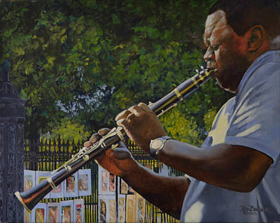 From New Orleans Painting - A Closer Walk With Thee by Ben Bensen III