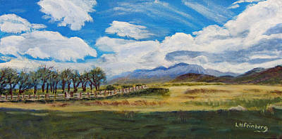 Painting - A Cloudy Day On Antelope Island by Linda Feinberg