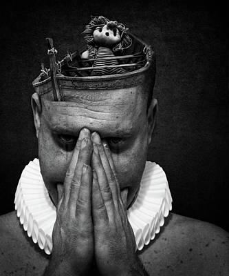 Photograph - A Clowns Death Spooky by Johan Lilja