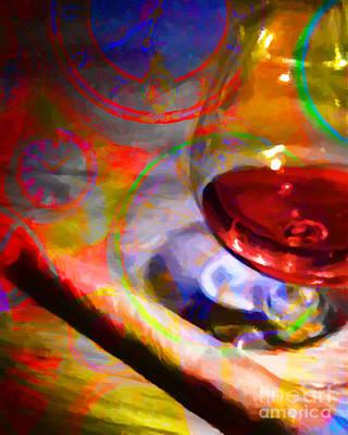 Enjoyment Digital Art - A Cognac Night 20130815 by Wingsdomain Art and Photography