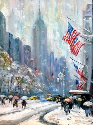 Painting - A Cold Winter Day Nyc  by Philip Corley