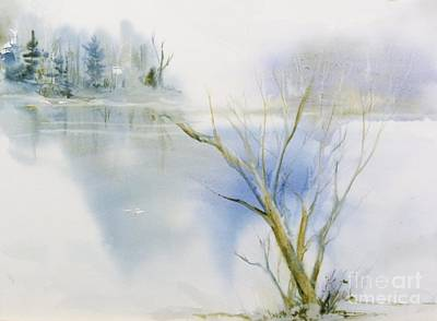 Painting - A Cold Winter's Day by Donna Acheson-Juillet