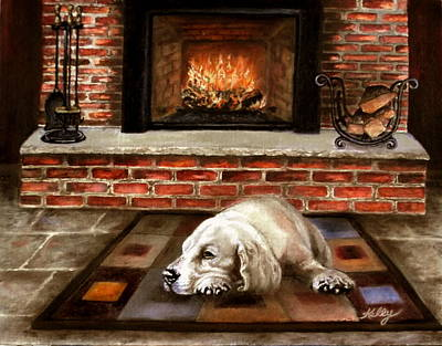 Painting - A Cold Winter's Night by Kathleen Kelly Thompson