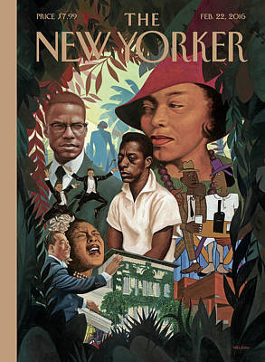 A Collage Of Famous African Americans Art Print by Kadir Nelson