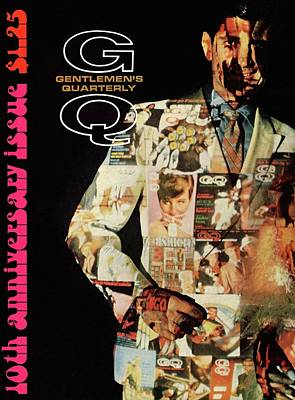 A Collage Of Gq Covers Art Print by Leonard Nones
