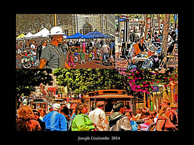 A Collage Of San Francisco Art Print by Joseph Coulombe