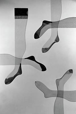 Studio Shot Photograph - A Collage Of Stockings by Herbert Matter