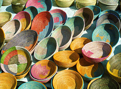 Photograph - A Collection Of Baskets by Cornelis Verwaal