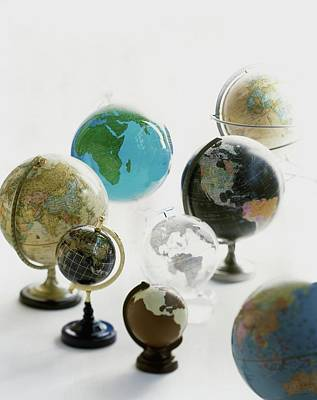 Interior Decoration Photograph - A Collection Of Globes by Romulo Yanes