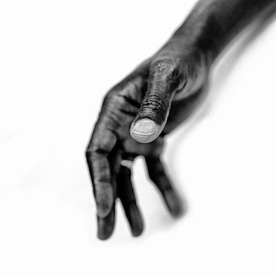 Photograph - A Colored Mans Hand by Runar Vestli