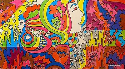 Drawing - A Colorful Dream by Hemu Aggarwal