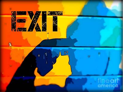 Mental Health Art Photograph - A Colorful Exit  by John Malone Halifax photographer