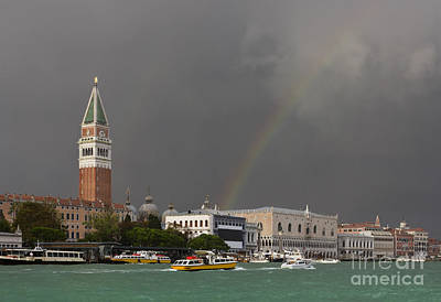 Raging Photograph - A Colorful Rainbow Just After The Storm In Venice by Kiril Stanchev