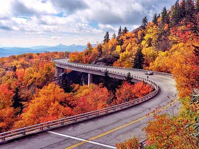 Photograph - A Colorful Ride Along The Blue Ridge Parkway by Chris Berrier