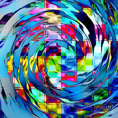 Digital Art - A Colorful Whirl by Darla Wood