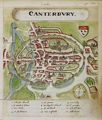 Particular Photograph - A Coloured Plan Of Canterbury by British Library