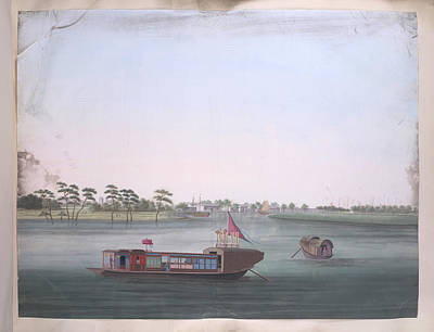 Illustration Technique Photograph - A Colourful Boat by British Library