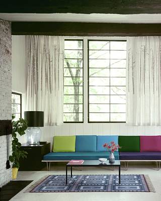 A Colourful Living Room Art Print by Wiliam Grigsby