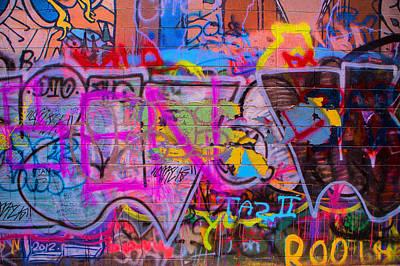 A Colourful Wall. Art Print