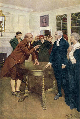 A Committee Of Patriots Delivering An Ultimatum To A Kings Councillor, Illustration From A Sign Art Print
