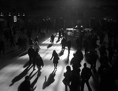 Photograph - A Commuter Dance by Cornelis Verwaal