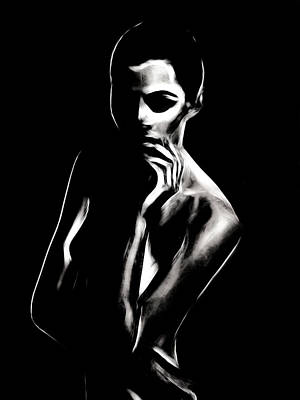 Innocence Painting - A Confident Woman by Steve K